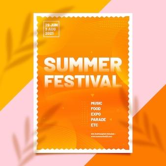 Modelo de folheto do festival de verão
