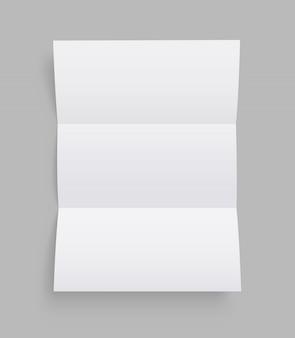 Modelo de folheto em branco. folheto. vista frontal. .