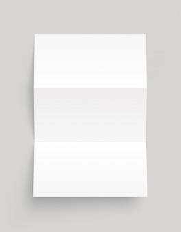 Modelo de folheto em branco. folheto. vista frontal.