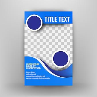 Modelo de folheto empresarial azul