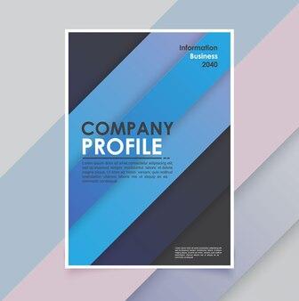 Modelo de folheto empresarial moderno