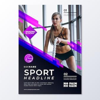 Modelo de folheto - esporte abstrato