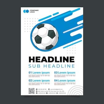 Modelo de folheto - esporte futebol