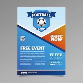 Modelo de folheto - esporte grátis para eventos