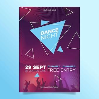 Modelo de folheto - evento de música em 2021 com foto