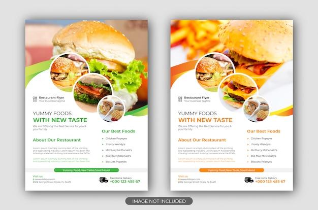 Modelo de folheto - fast food