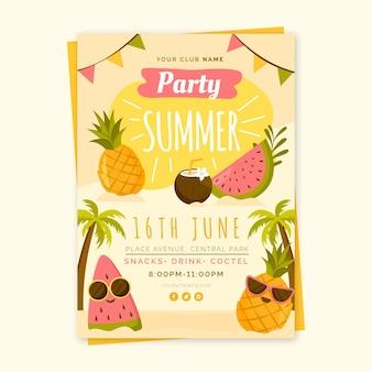 Modelo de folheto - festa de verão