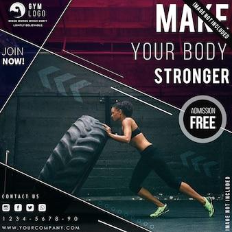 Modelo de folheto fitness academia