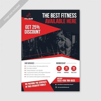 Modelo de folheto - fitness e ginásio