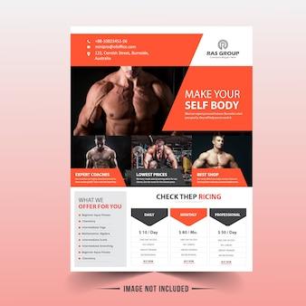Modelo de folheto - fitness / ginásio