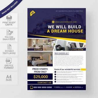 Modelo de folheto imobiliário