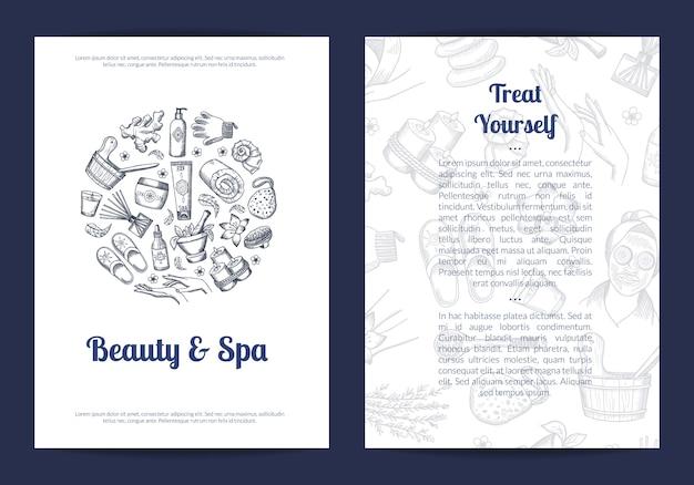 Modelo de folheto informativo de beleza e spa