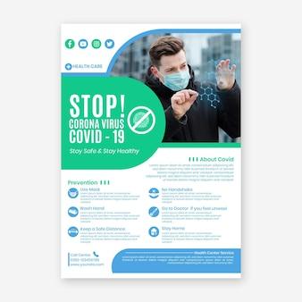 Modelo de folheto informativo de coronavírus
