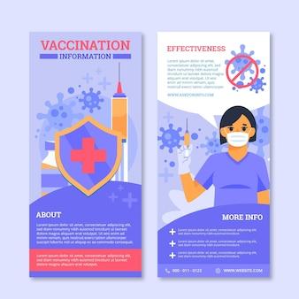 Modelo de folheto informativo de vacinação contra o coronavírus
