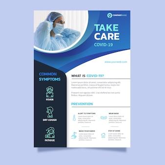 Modelo de folheto informativo sobre coronavírus