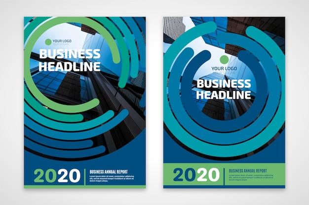 Modelo de folheto - manchete de negócios