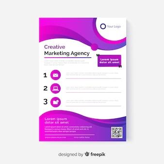 Modelo de folheto - marketing de negócios abstratos