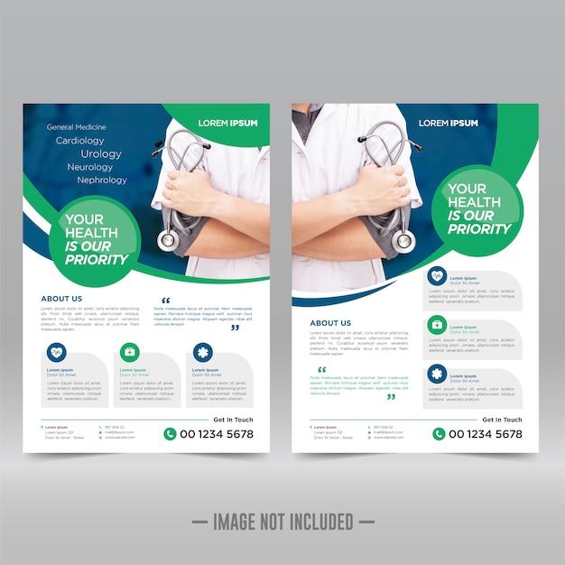 Modelo de folheto médico e de saúde