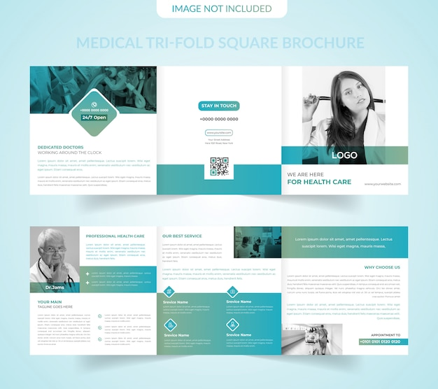 Modelo de folheto médico tri-fold