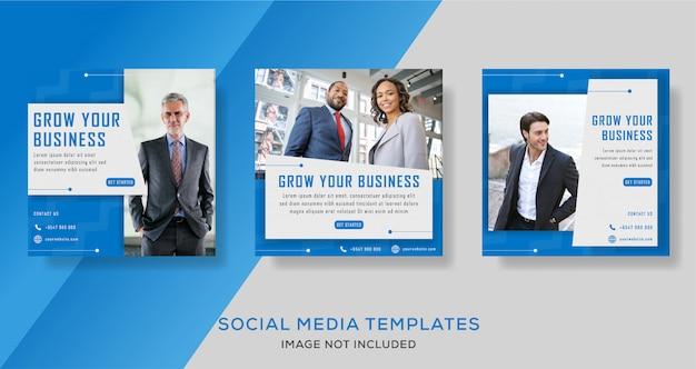 Modelo de folheto - mídia social de promoção de negócios corporativos