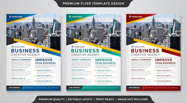 Modelo de folheto minimalista estilo premium