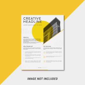 Modelo de folheto minimalista