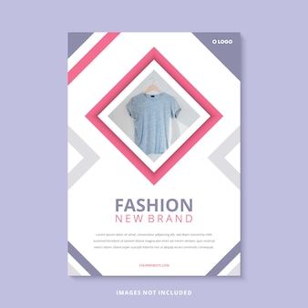 Modelo de folheto - moda moderna nova marca