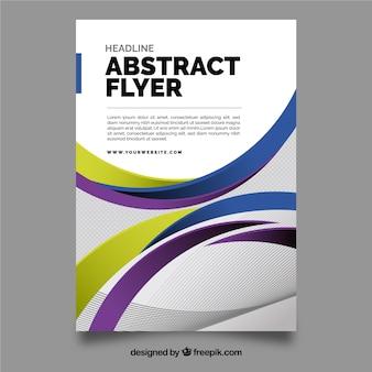 Modelo de folheto moden com design abstrato