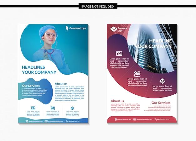 Modelo de folheto moderno de negócios