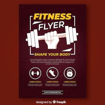 Modelo de folheto moderno fitness
