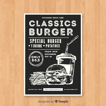 Modelo de folheto moderno restaurante de hambúrguer