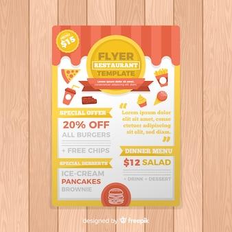 Modelo de folheto moderno restaurante fast food