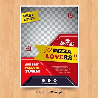 Modelo de folheto moderno restaurante pizza