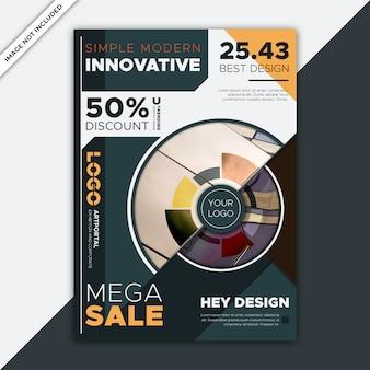 Modelo de folheto moderno venda