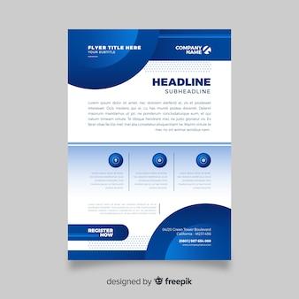 Modelo de folheto - negócio abstrato azul