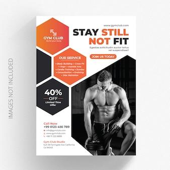 Modelo de folheto - negócio de ginásio de fitness