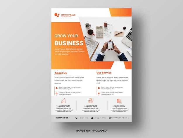 Modelo de folheto - negócio premium