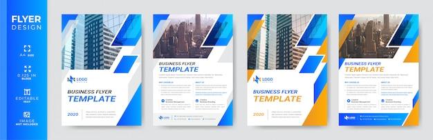 Modelo de folheto - negócios corporativos modernos