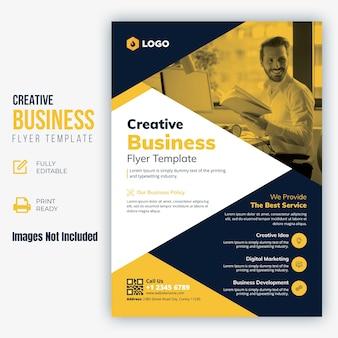 Modelo de folheto - negócios criativos