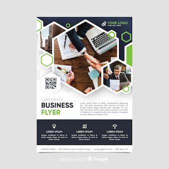 Modelo de folheto - negócios em mosaico