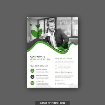 Modelo de folheto - negócios modernos