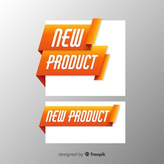 Modelo de folheto novo produto colorido