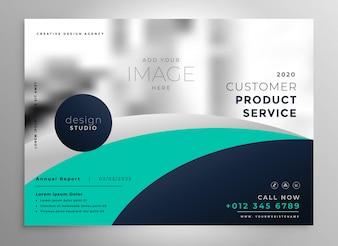 Modelo de folheto ou apresentação de relatório anual de negócios elegante