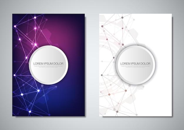 Modelo de folheto ou design de capa