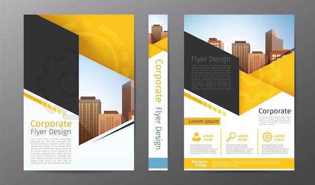Modelo de folheto ou panfleto de negócios; relatório anual ou layout da capa do livro