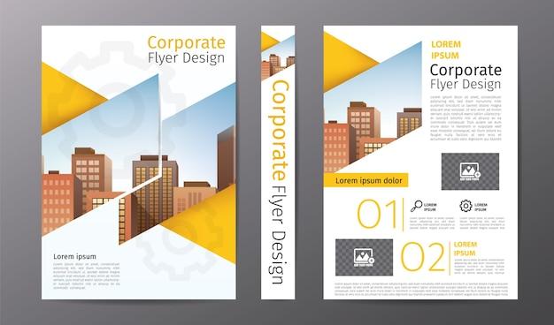 Modelo de folheto ou panfleto de negócios