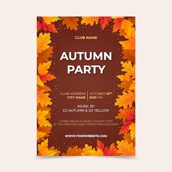 Modelo de folheto outono vertical com gradiente