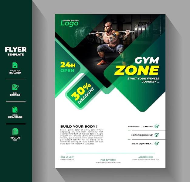 Modelo de folheto - panfleto de ginásio de fitness