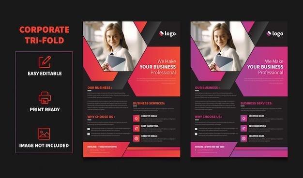 Modelo de folheto - panfleto de serviços a empresas