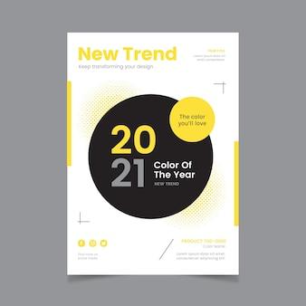 Modelo de folheto pantone 2021 a5